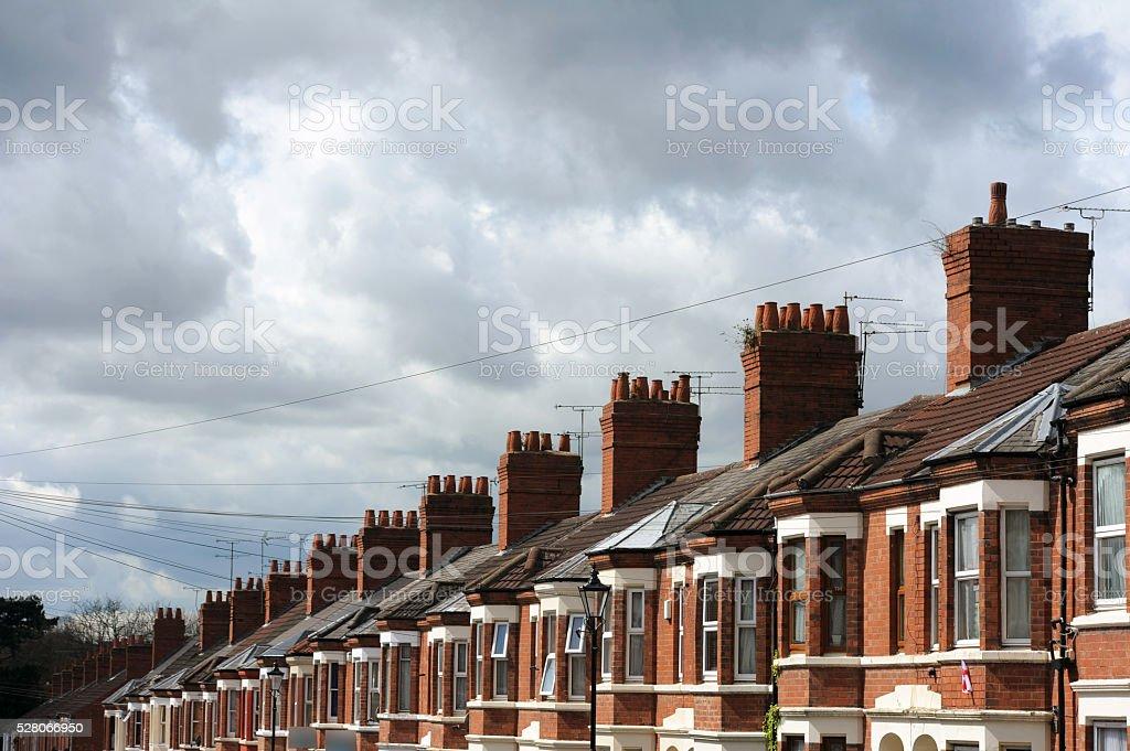 Suburban Houses-Stock Photo stock photo