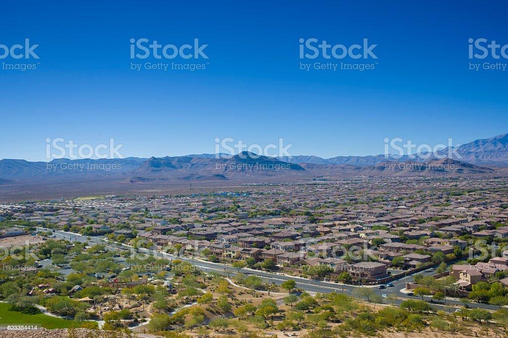 Suburban Las Vegas stock photo