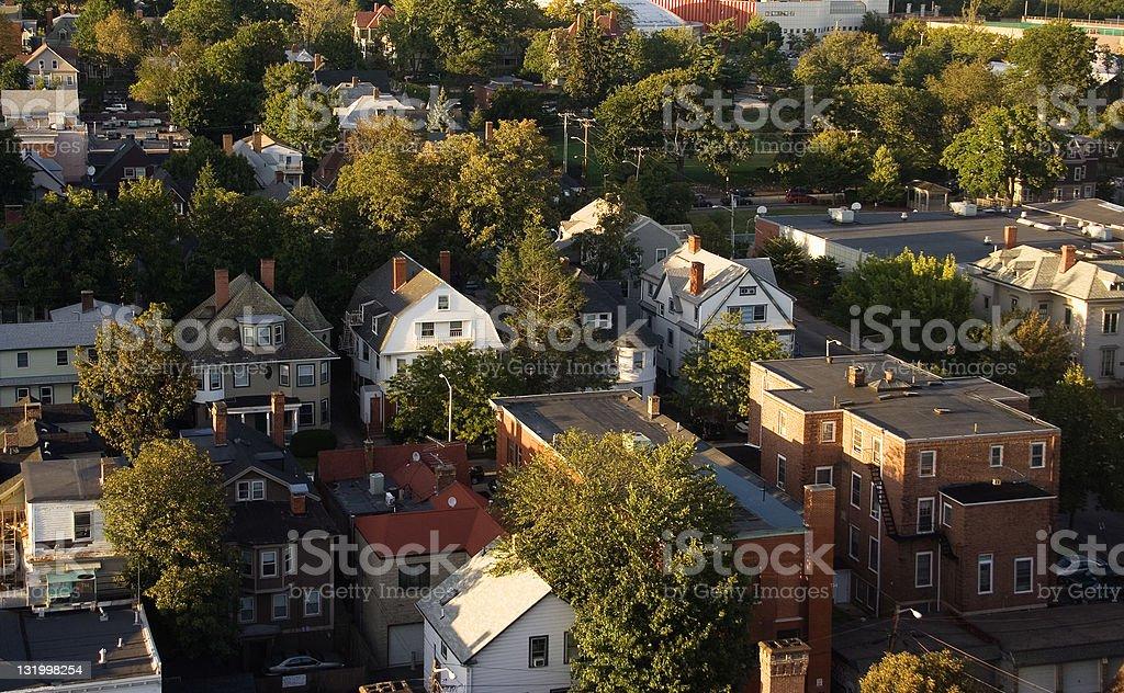 Suburban living royalty-free stock photo