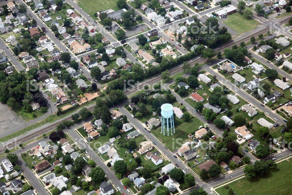 Suburban Neighborhood Aerial stock photo