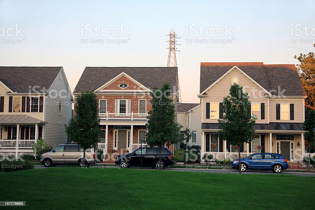 Suburban Neighborhood royalty-free stock photo