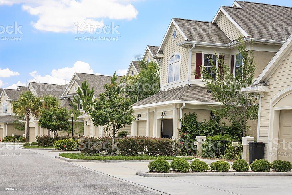 Suburban Neighborhood stock photo