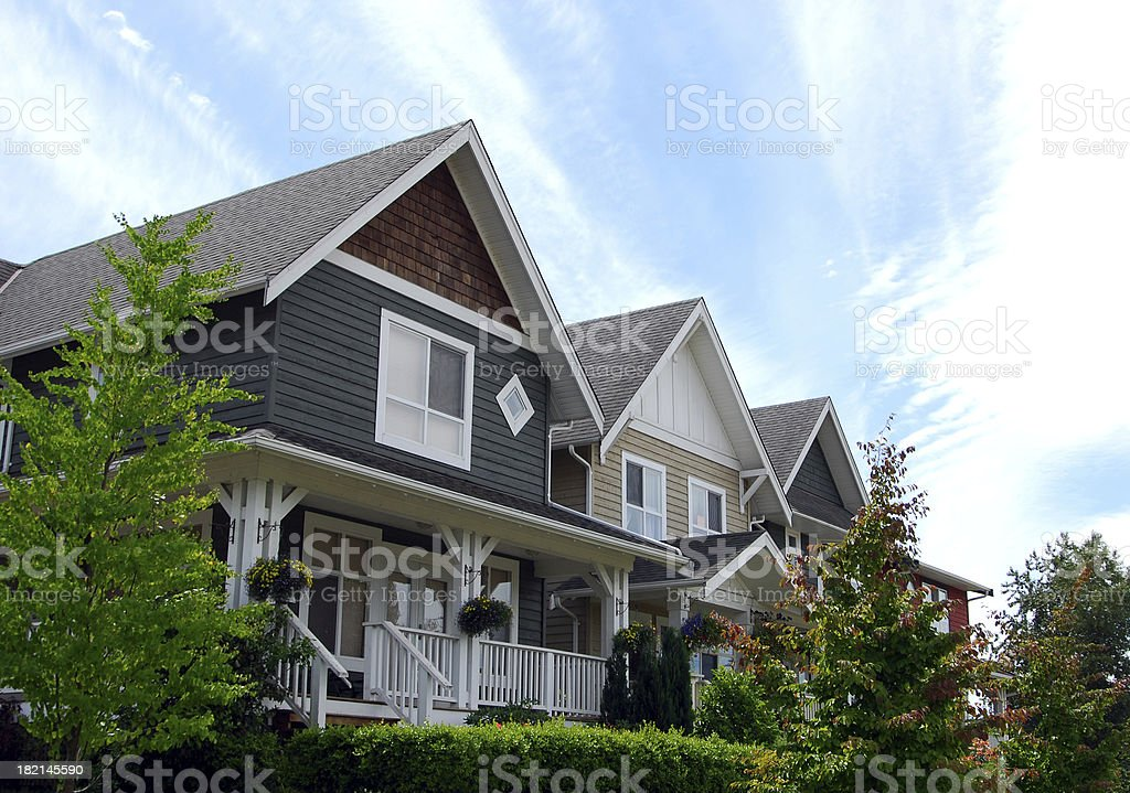 Suburban Neighbourhood stock photo