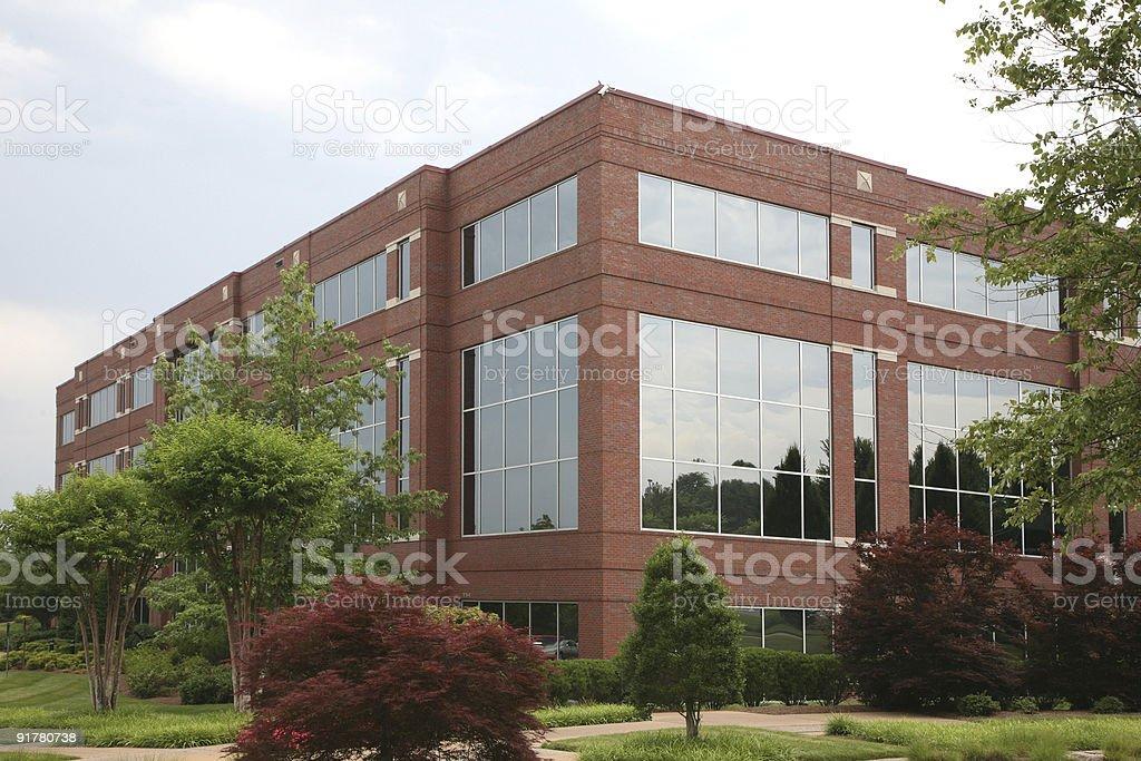 Suburban office building royalty-free stock photo