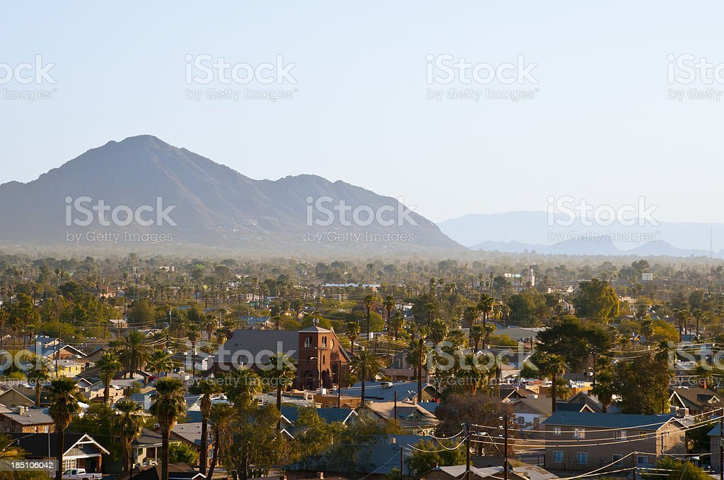 Suburban Phoenix royalty-free stock photo