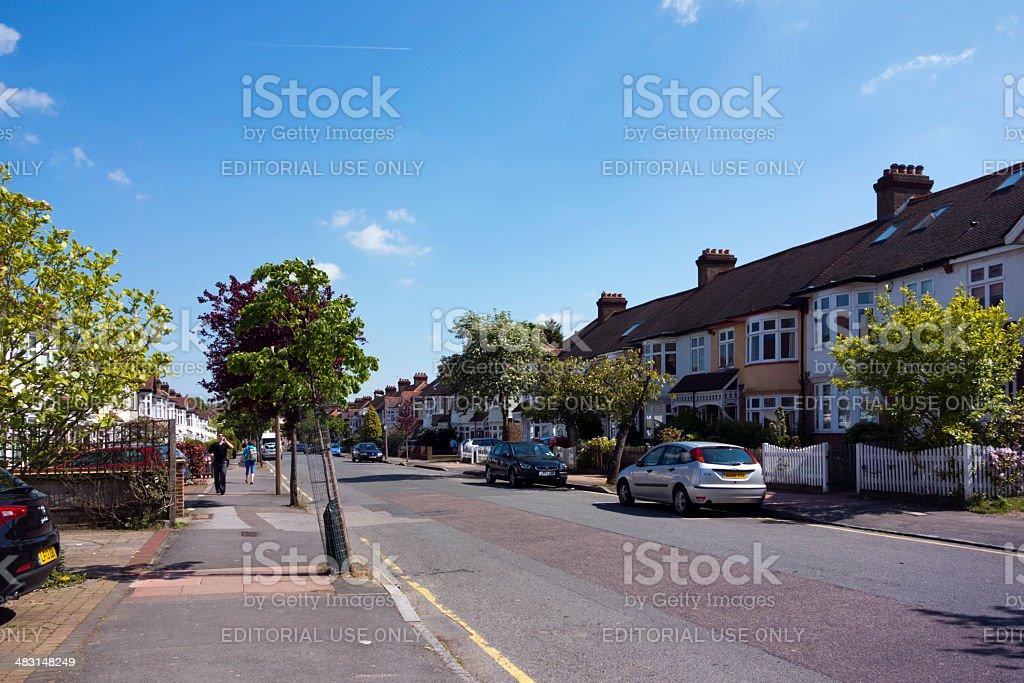 Suburban road royalty-free stock photo
