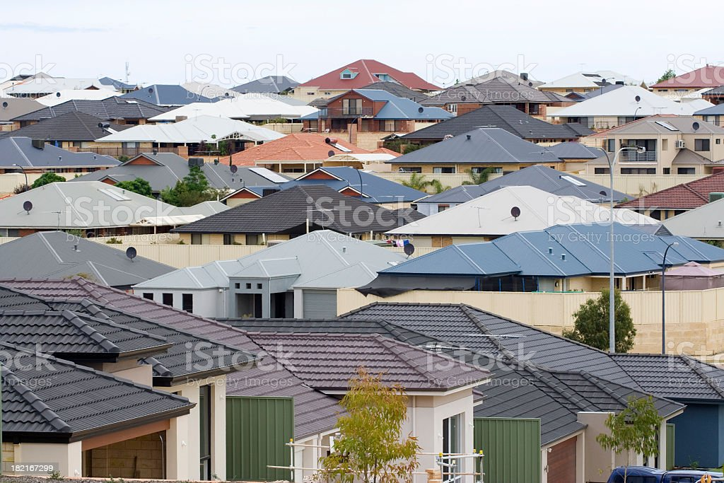 Suburban Scene royalty-free stock photo