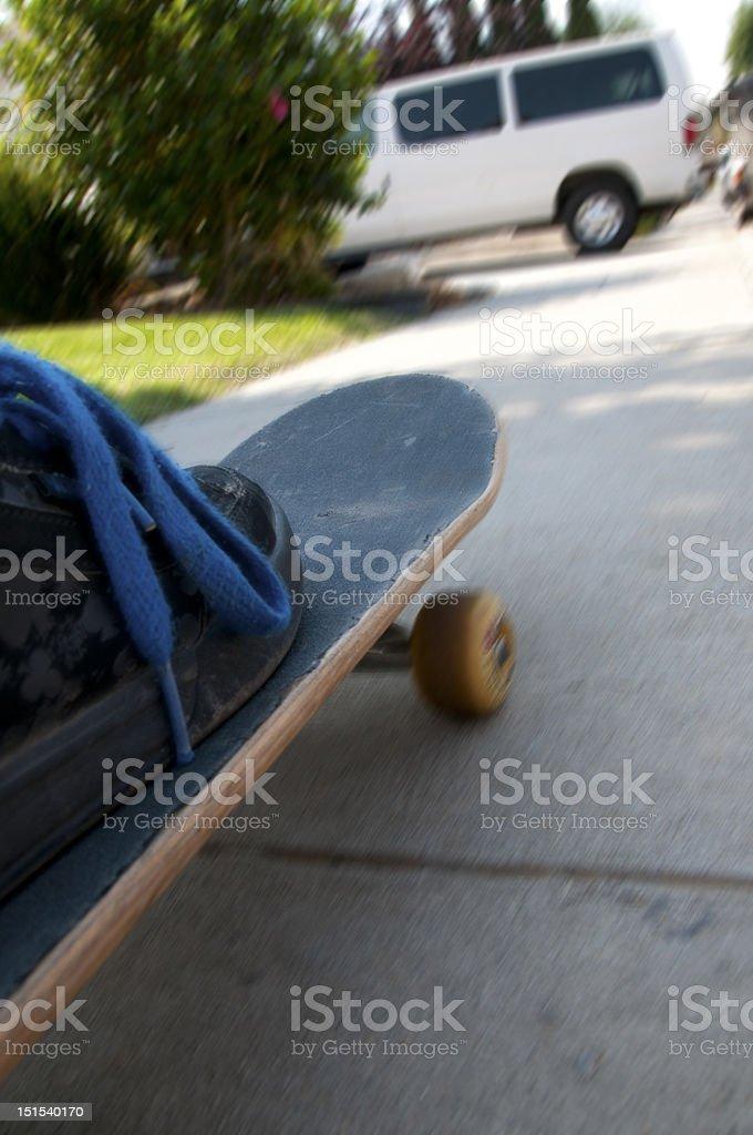 Suburban Skateboarding stock photo