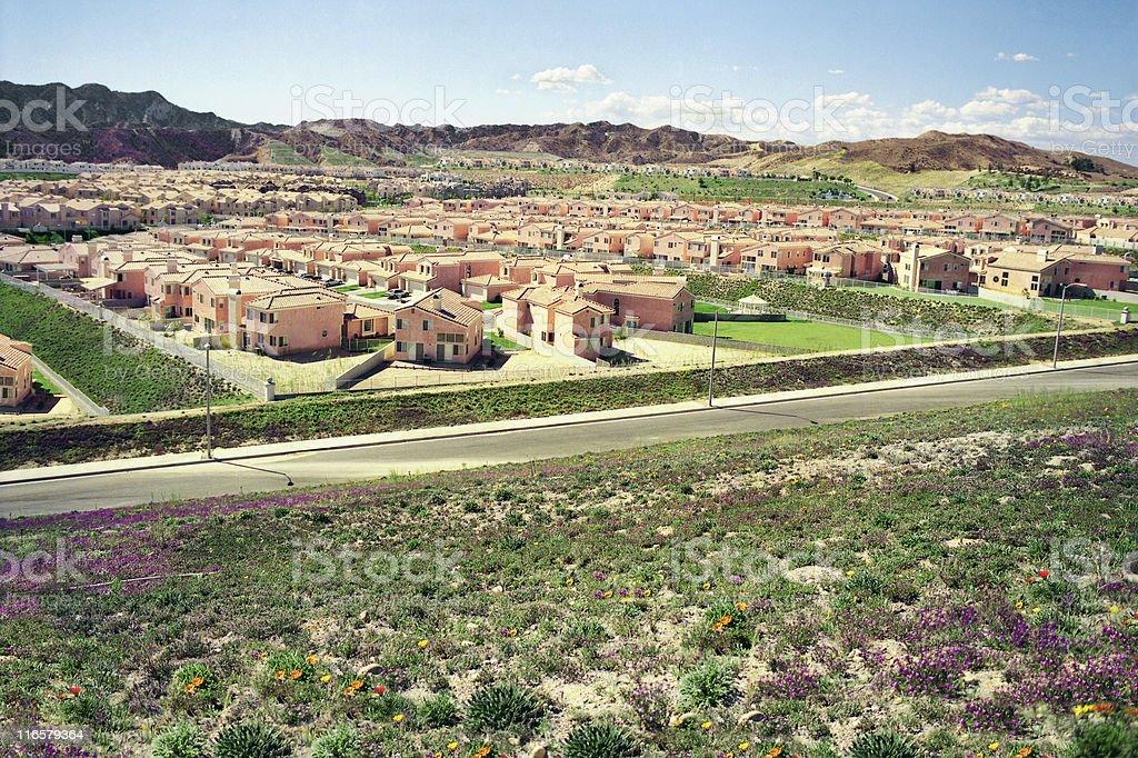 Suburban sprawl, California royalty-free stock photo