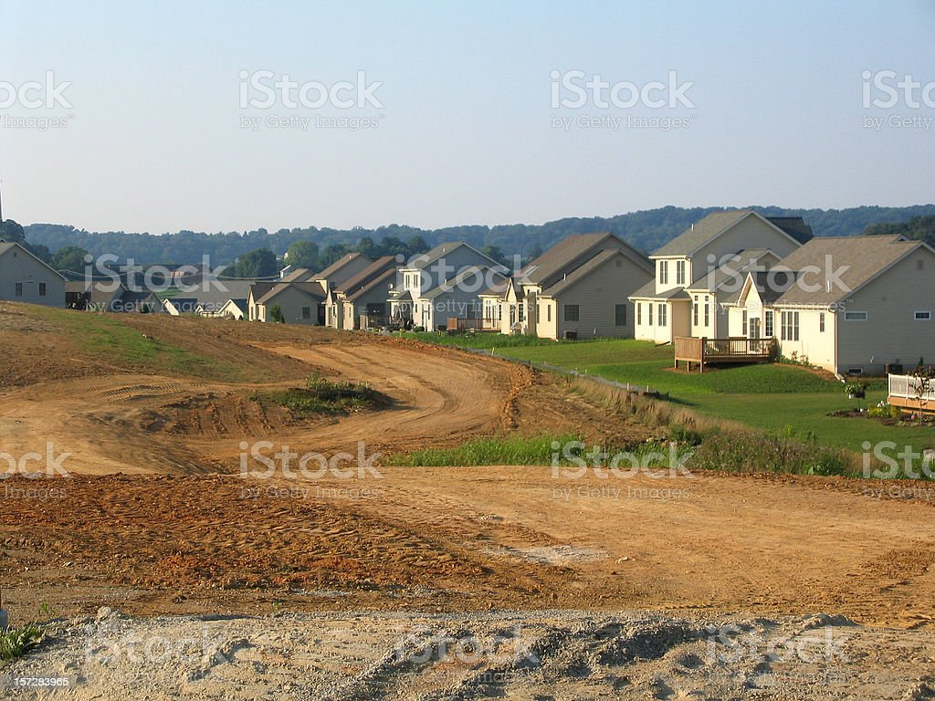 Suburban Sprawl stock photo