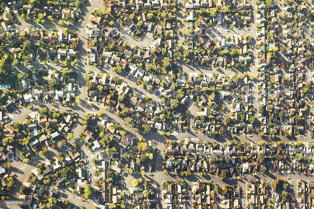 Suburban sprawl royalty-free stock photo