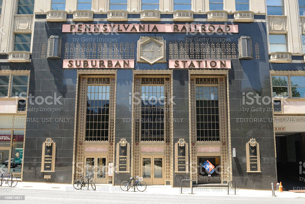 Suburban Station stock photo