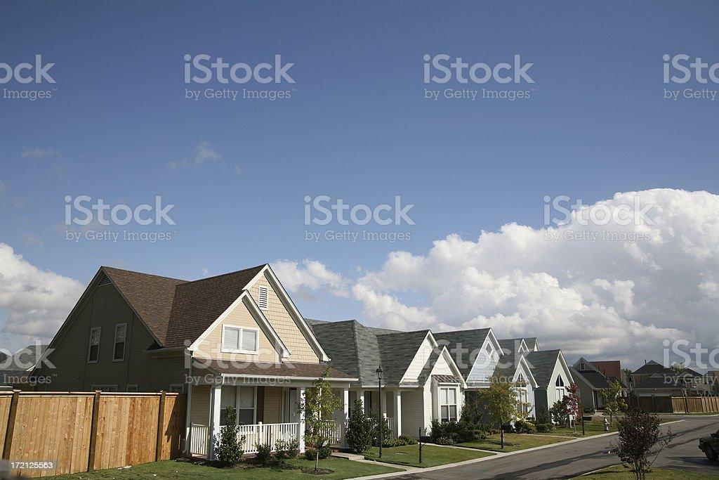 Suburban street royalty-free stock photo