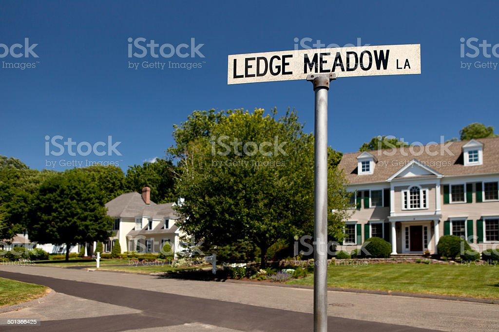 Suburban Street stock photo