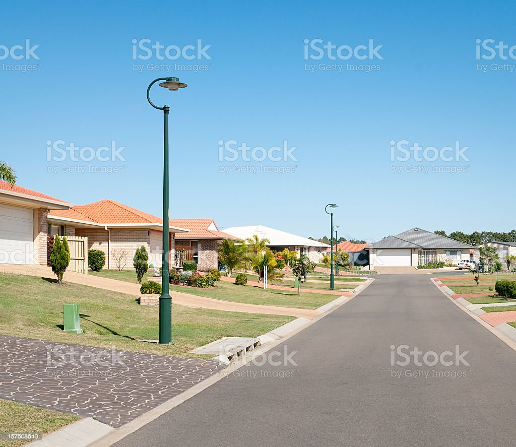 Suburban Street Properties stock photo