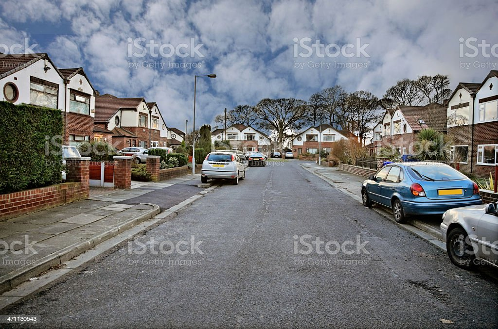 Suburban Street-Click for more. royalty-free stock photo