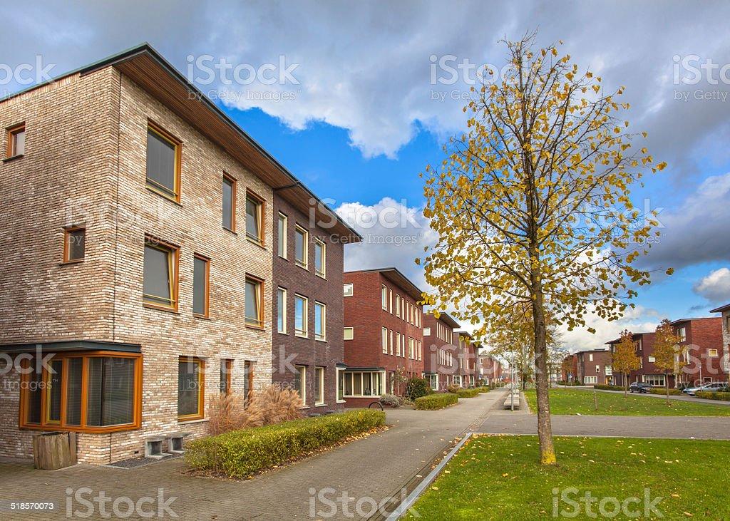 Suburban Terrace Houses stock photo