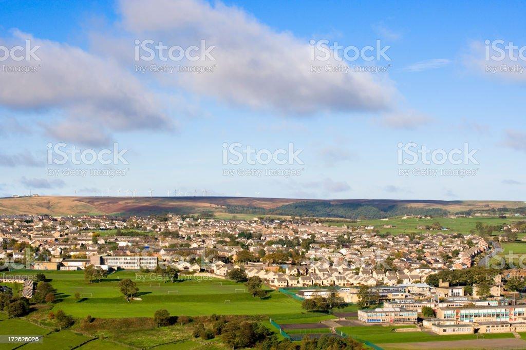 Sub-urban town royalty-free stock photo