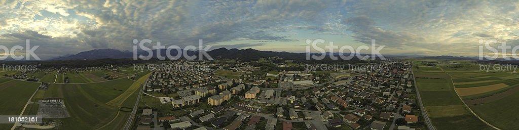 Suburban town stock photo