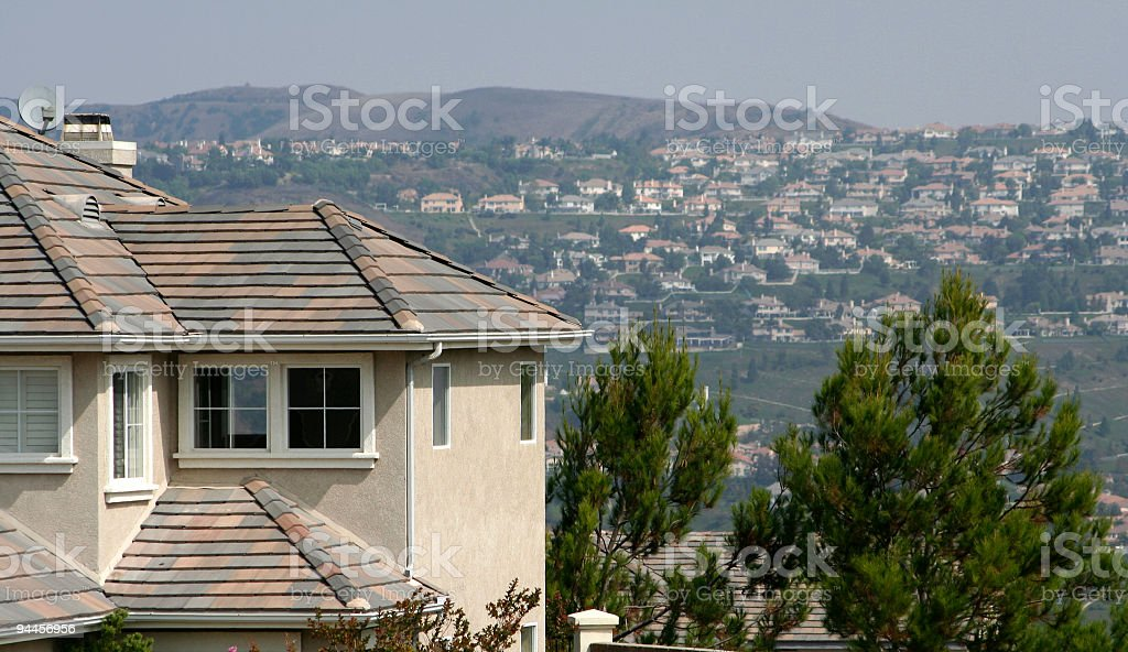 Suburbia Takes over the hills stock photo