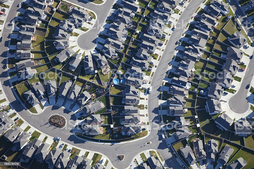 Suburbs Aerial View stock photo
