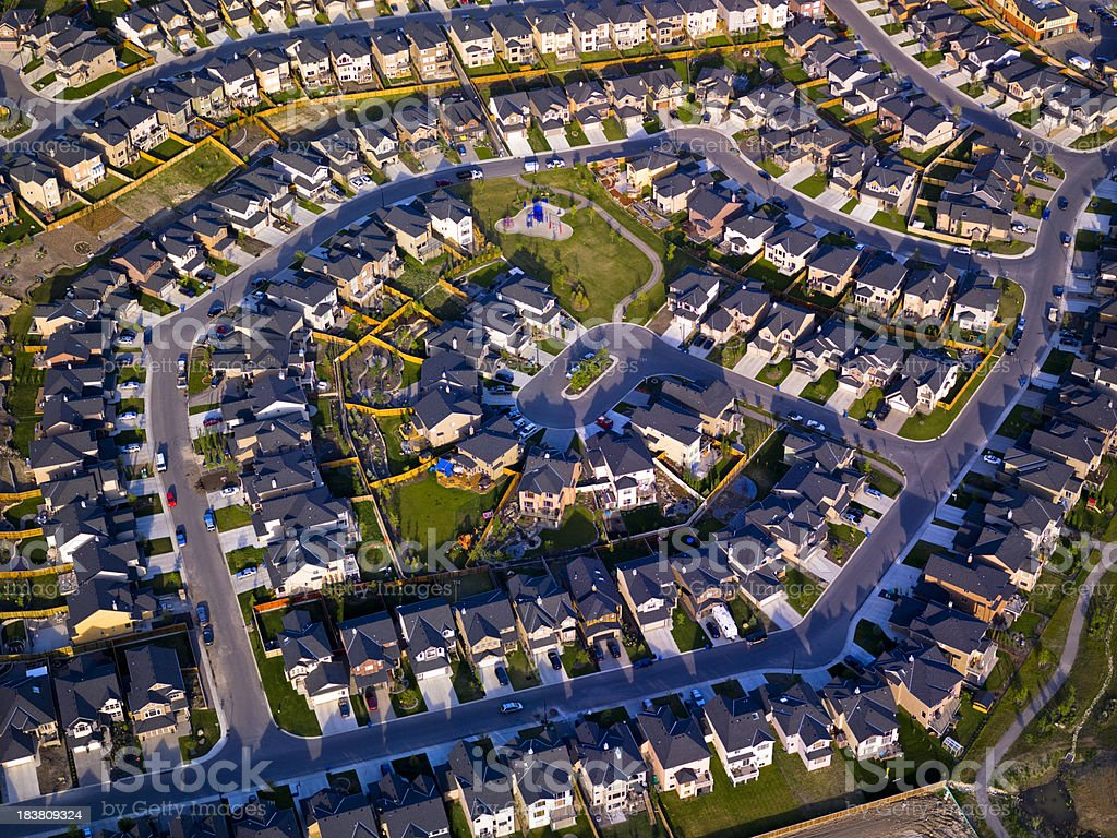 Suburbs Aerial View royalty-free stock photo