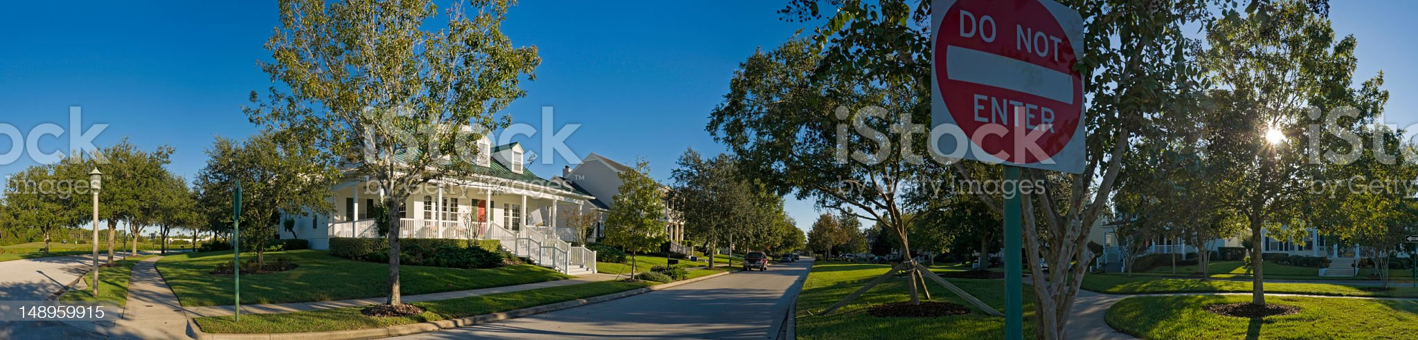 Suburbs do not enter royalty-free stock photo