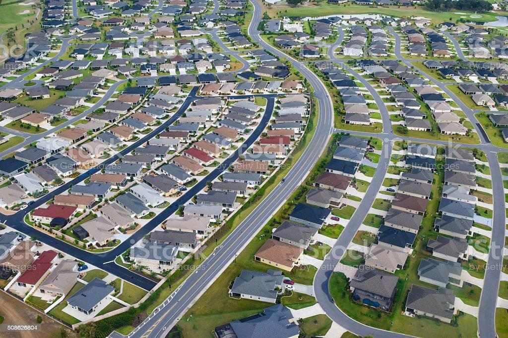 Suburbs in Florida stock photo