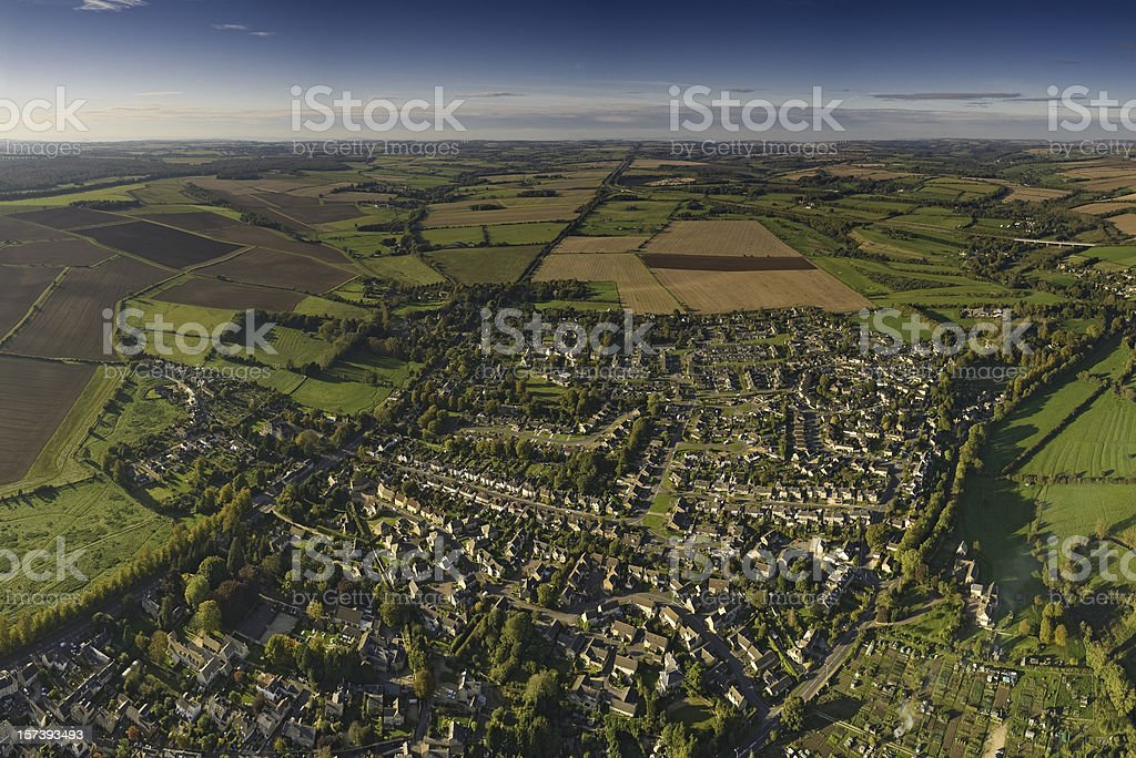 Suburbs patchwork quilt landscape royalty-free stock photo