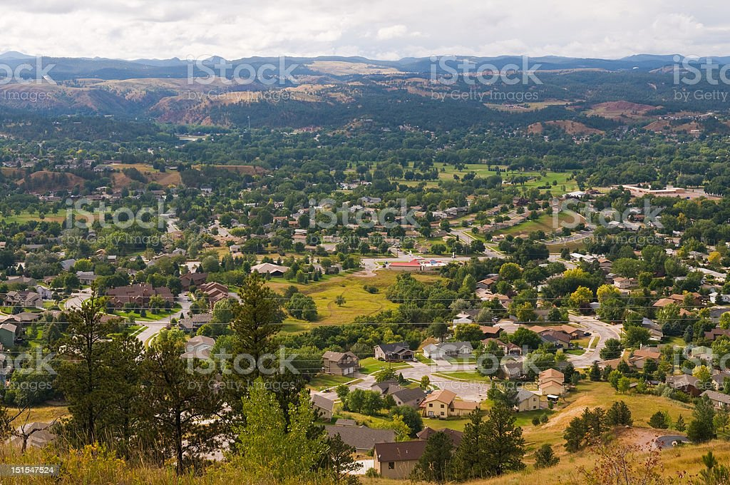 Suburbs stock photo