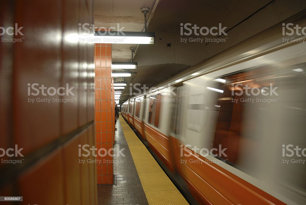 Subway Approaching _5 of 5 royalty-free stock photo