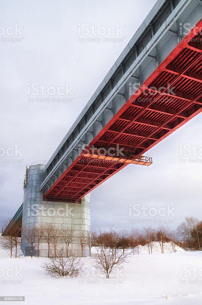 subway bridge stock photo