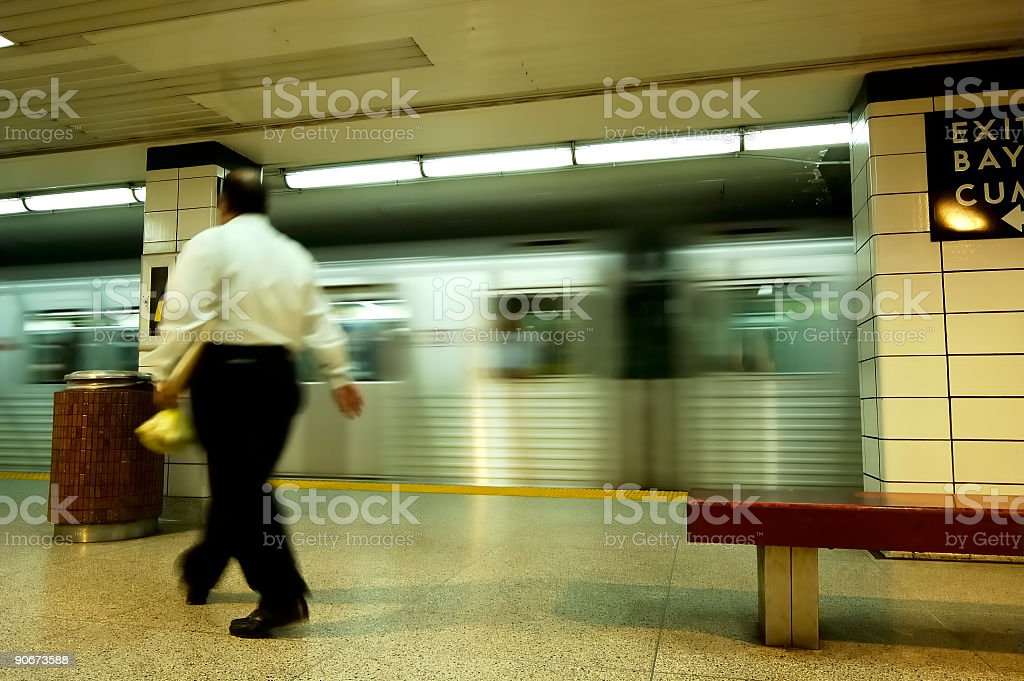 Subway Business Man royalty-free stock photo