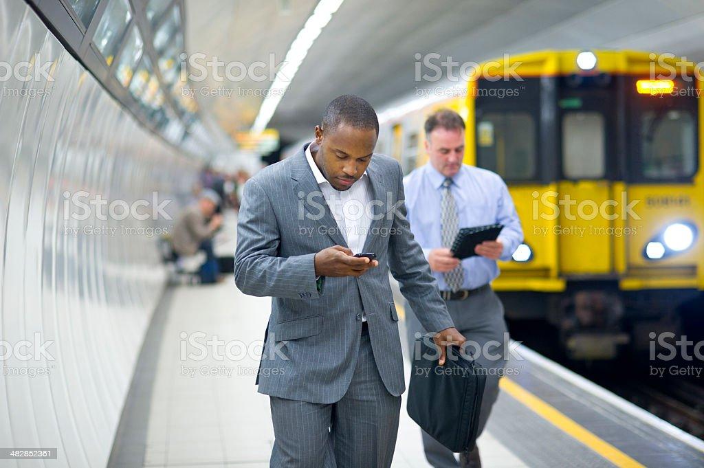 subway businessman royalty-free stock photo