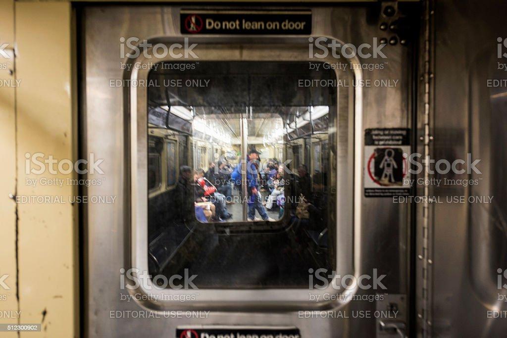 Subway car stock photo