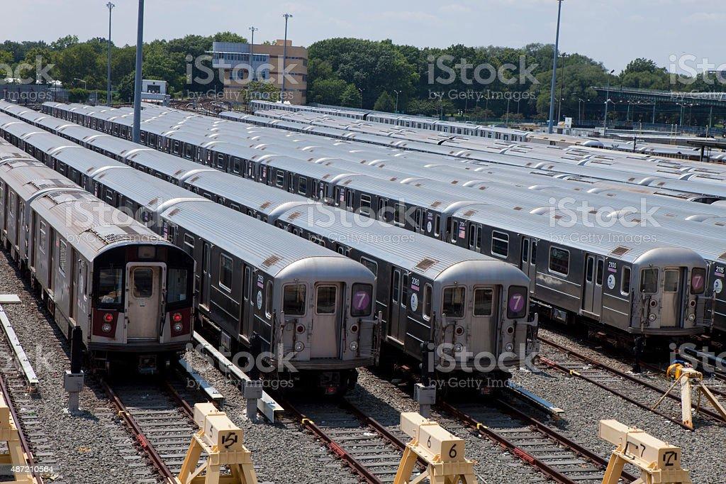 Subway cars - New York City stock photo