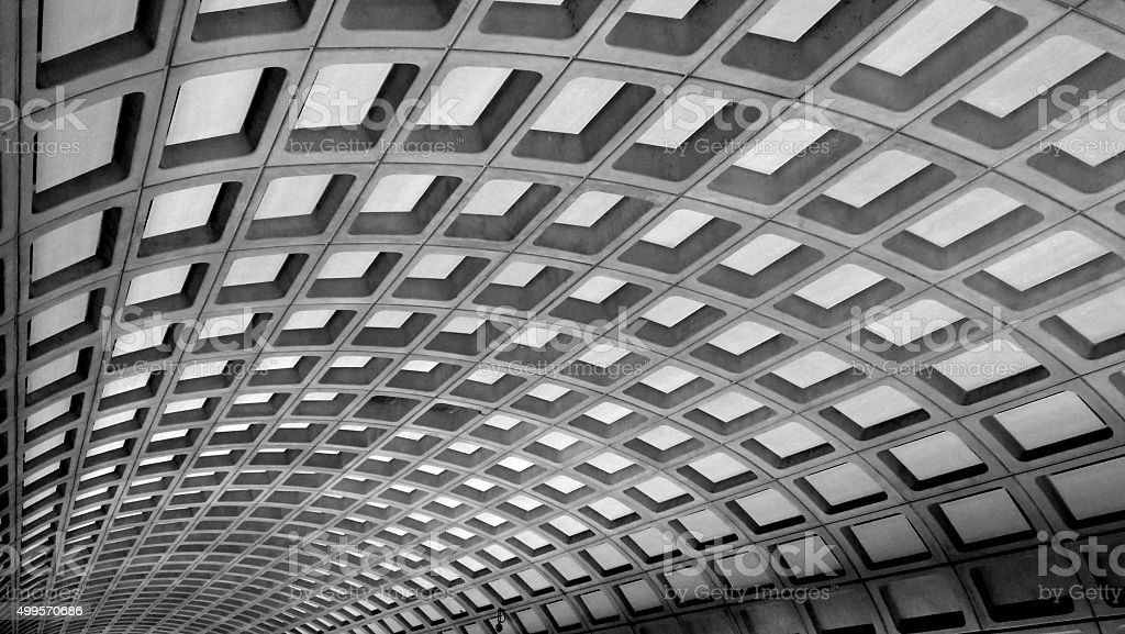 DC Subway Ceiling stock photo