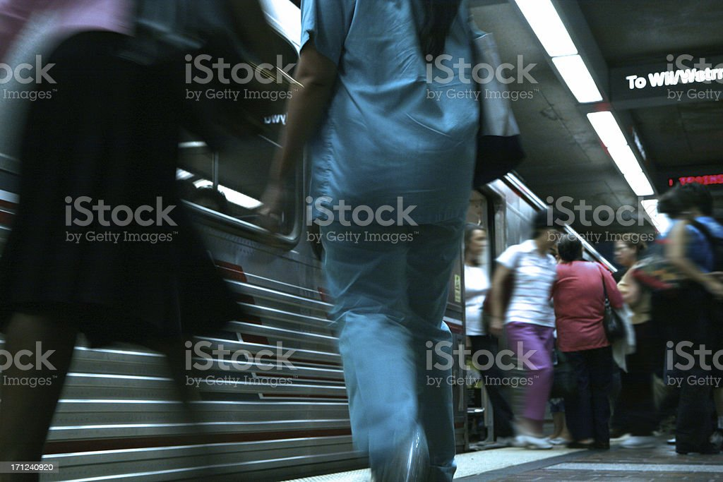 Subway: commuter rush hour royalty-free stock photo