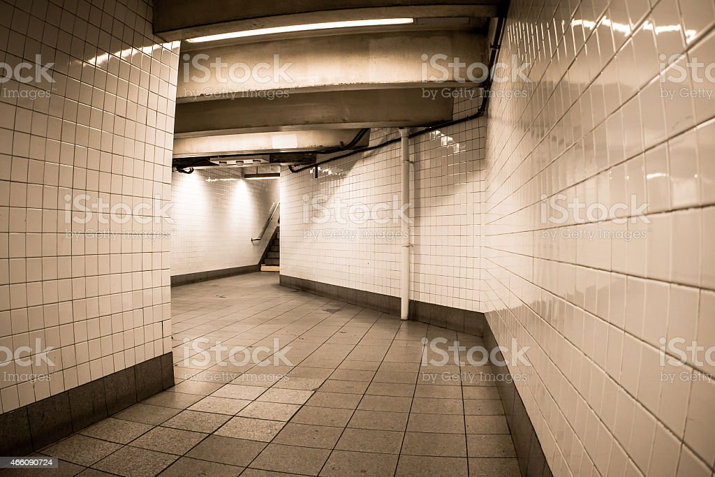 NYC Subway Corridor stock photo