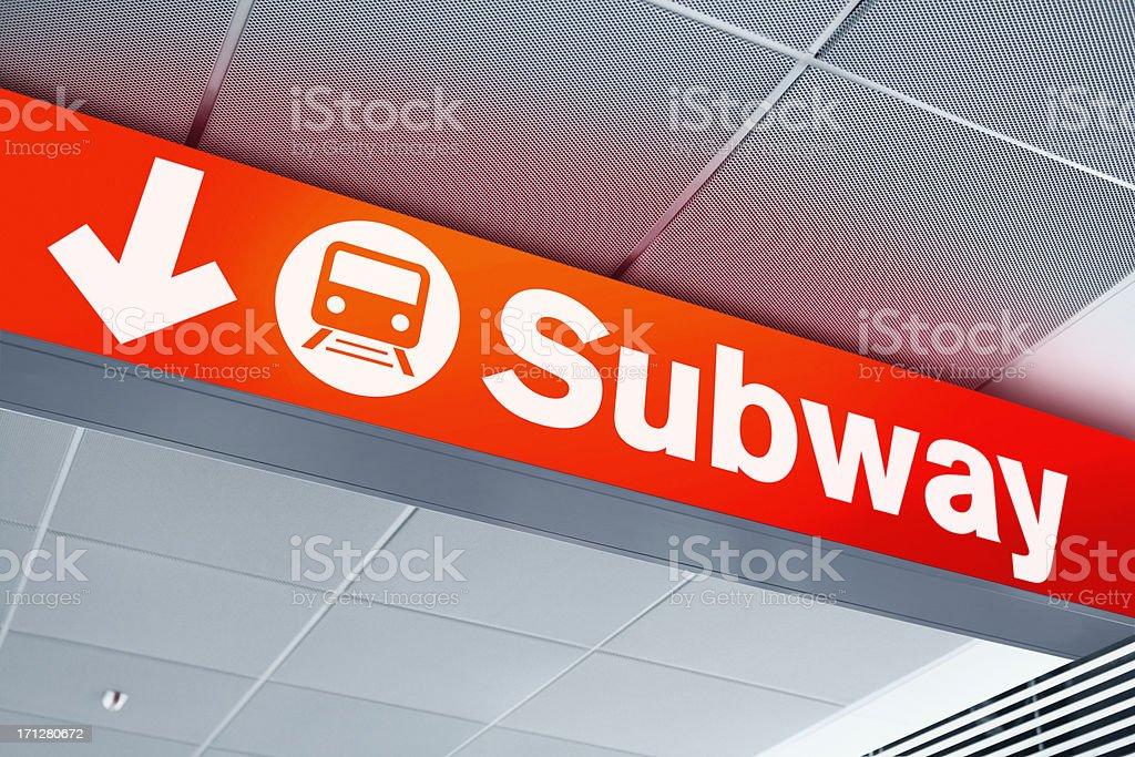 Subway direction sign royalty-free stock photo