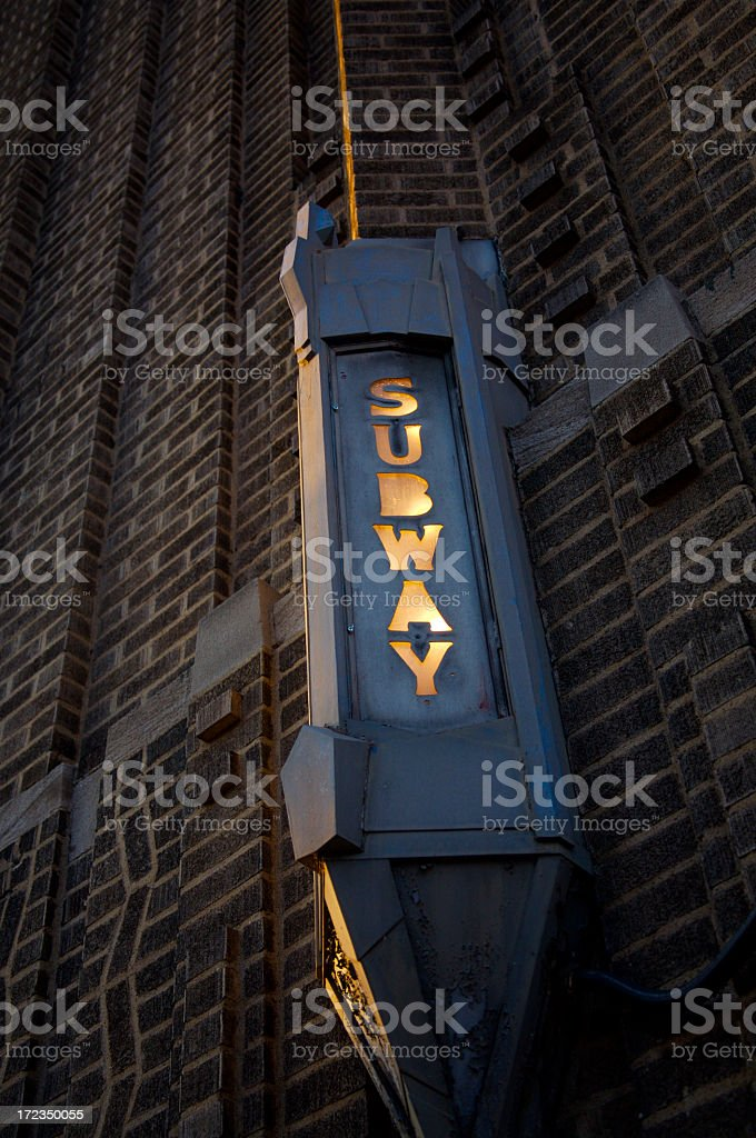 Subway Entrance royalty-free stock photo