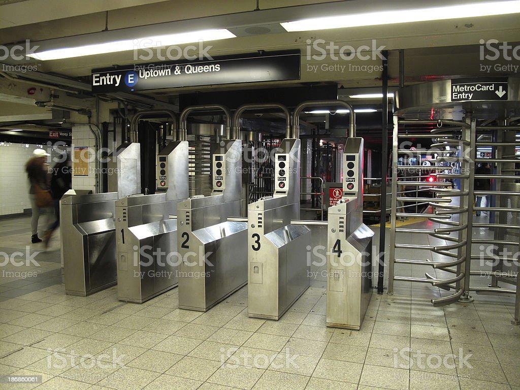 Subway Entry stock photo