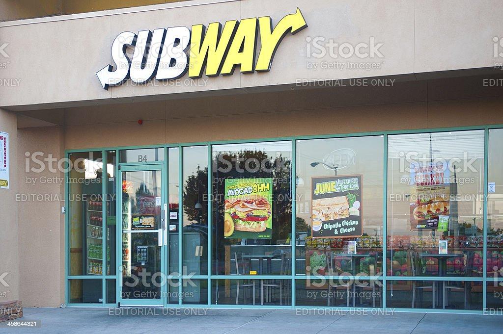 Subway Fast Food Restaurant stock photo
