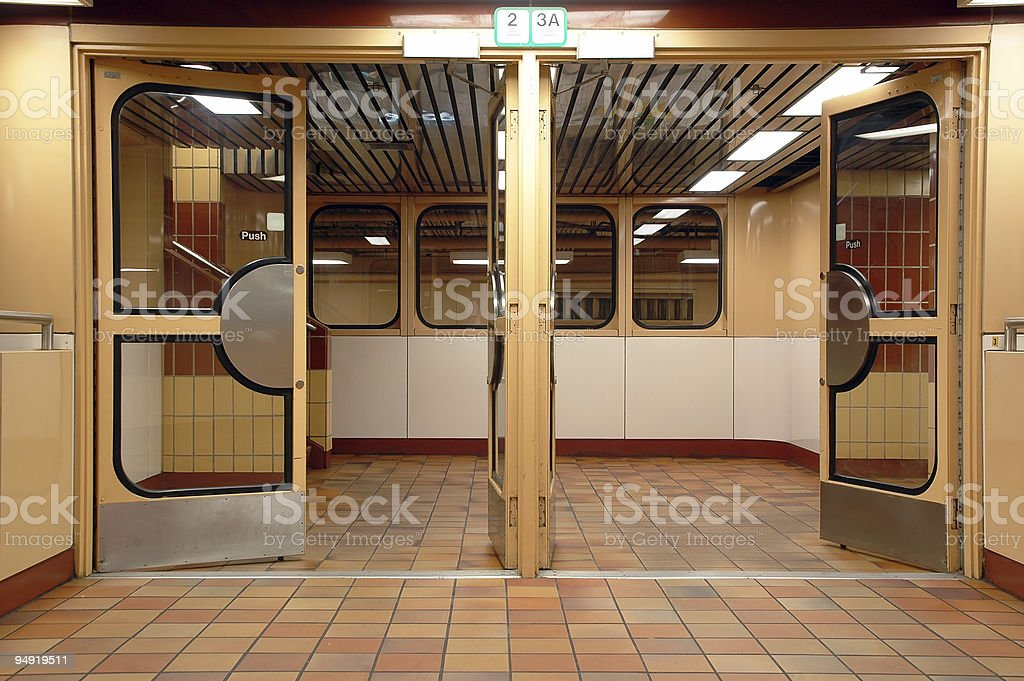 Subway gate1 royalty-free stock photo