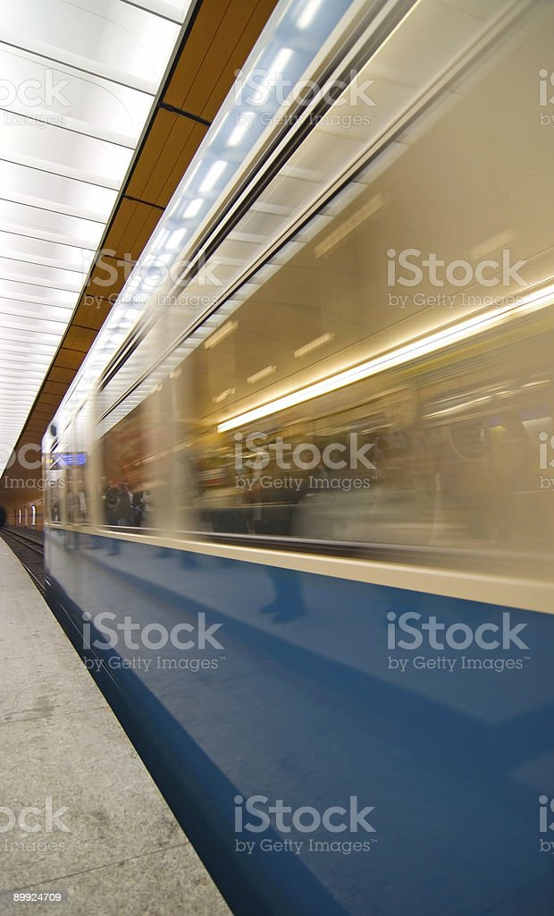 Subway in blurred motion royalty-free stock photo