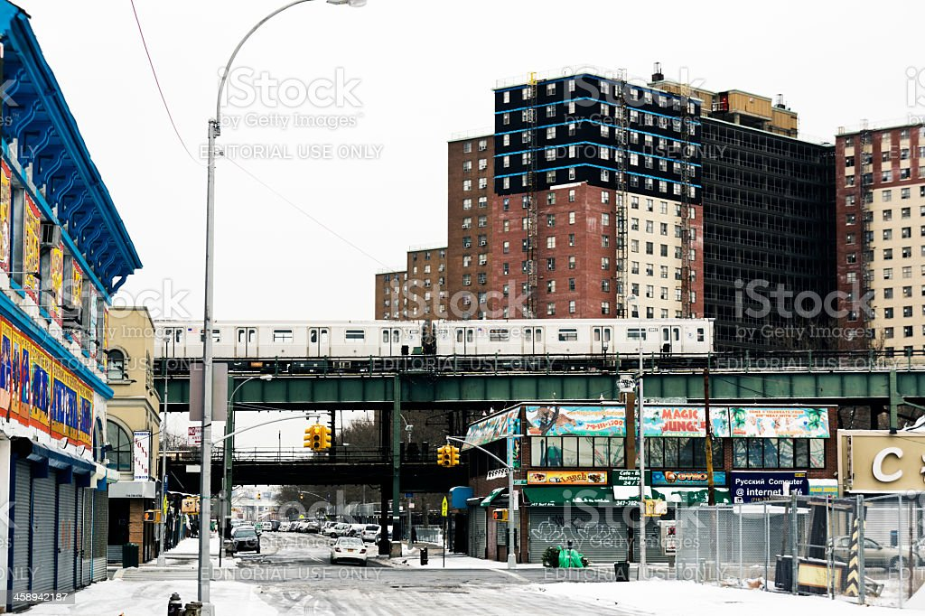 Subway in Coney Island New York royalty-free stock photo
