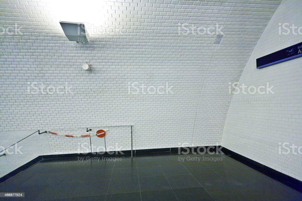 Subway in Lisbon stock photo