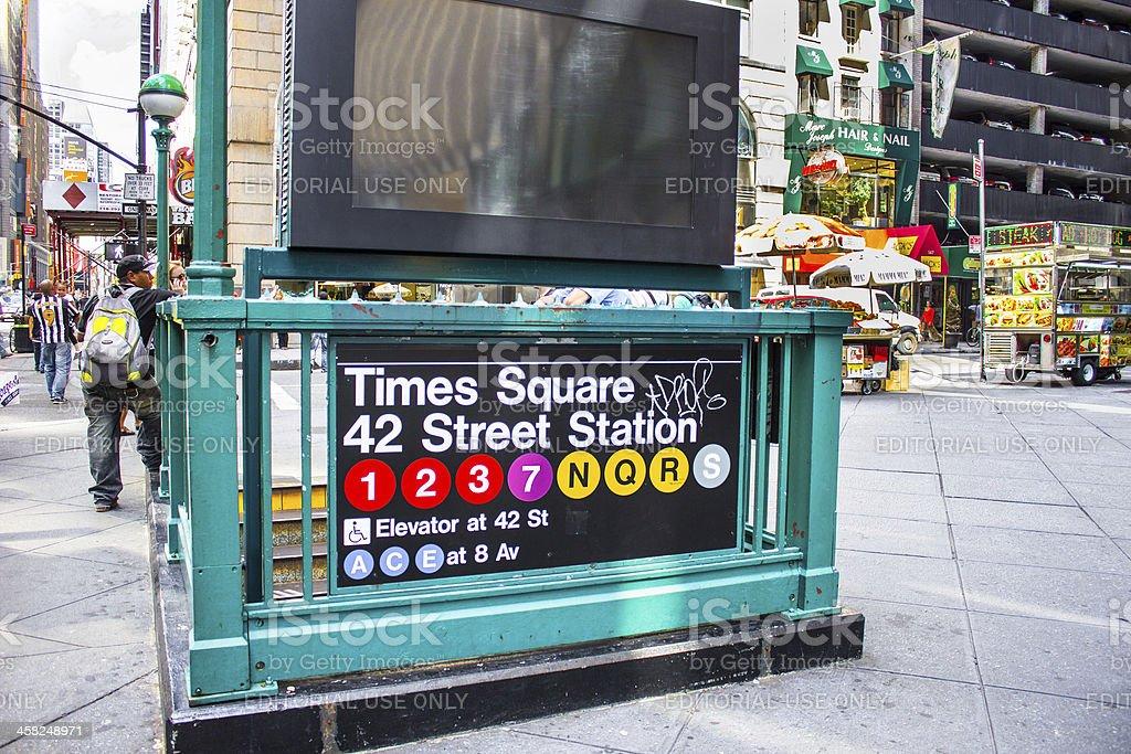 Subway in New York City stock photo