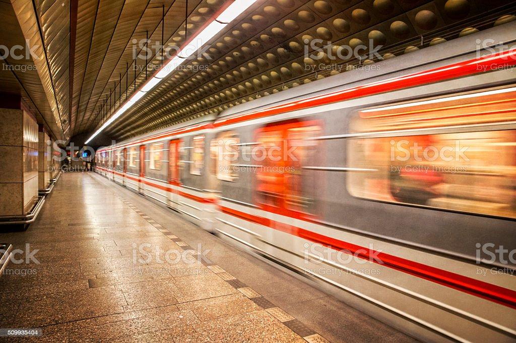 Subway in Prague Czech Republic stock photo