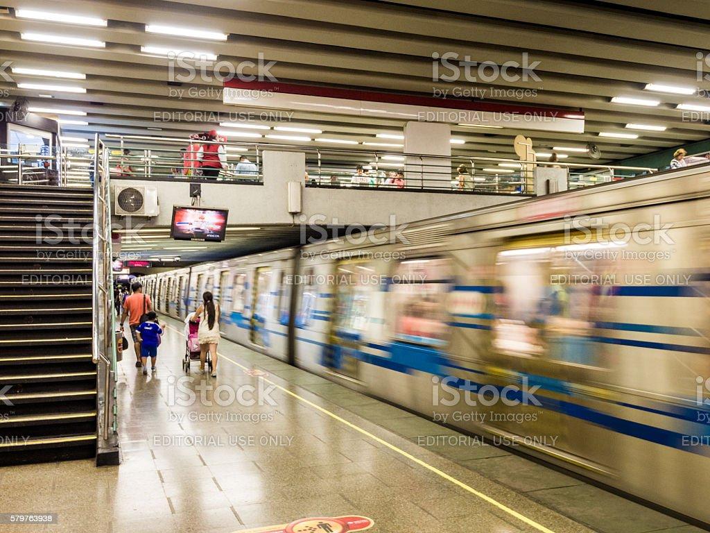 Subway in Santiago, Chile stock photo
